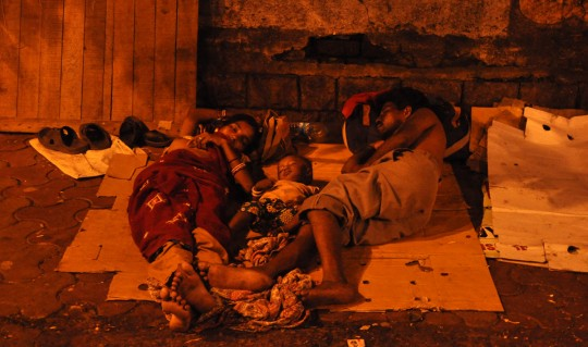Vikas picture, poverty in India.