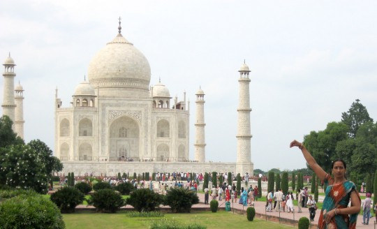 The Taj Mahal is also visited by millions of Indian tourists.