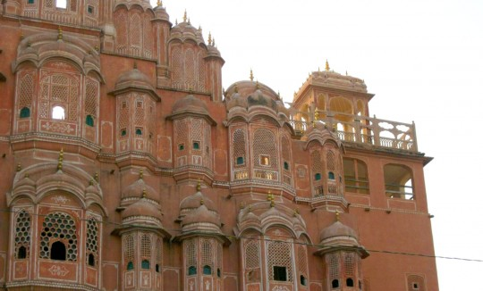 The Palace of the Winds, detail, Jaipur.
