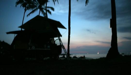 Our traveler found some peace on a Goa beach.