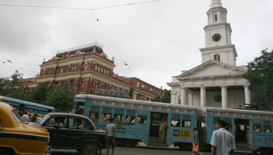 Colonial architecture in the BBD Bagh area of Calcutta.