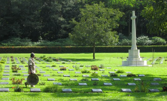 The WWII Memorial cemetery, where bodies of Japanese and Allied forces that died on the Burmese front lay.