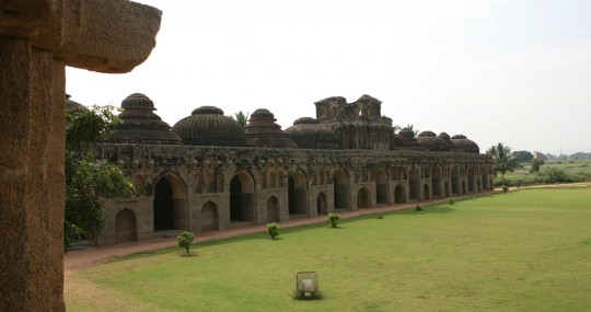 Elephant stables in Hampi.