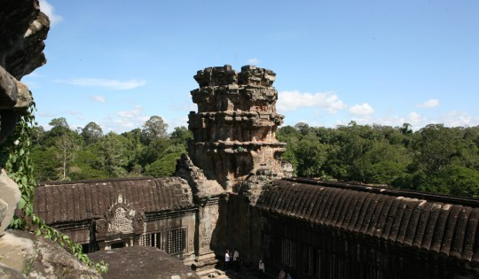Angkor Wat, believed to be the largest religious monument in the world.