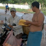 Bread is delivered to our host in Kep. (Photo: Vikas)