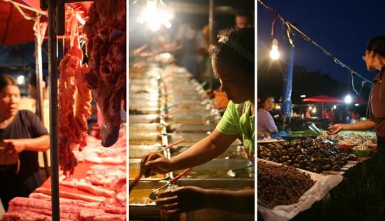 Night market scenes in Phuket.