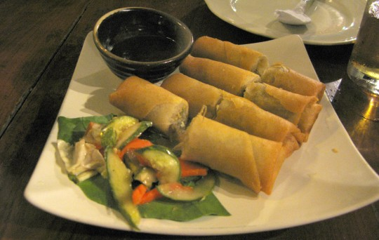 Spring rolls.