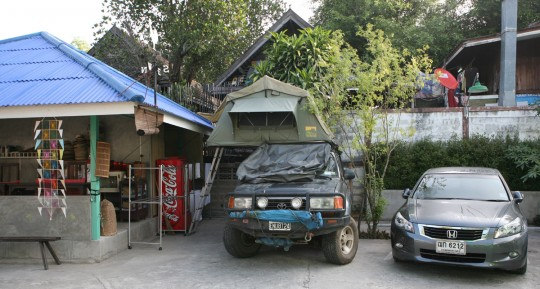 In Lampang, a tight fit for my house on wheels.