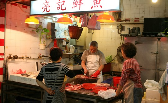 Hong Kong butcher. By now you know my favorite places are markets.