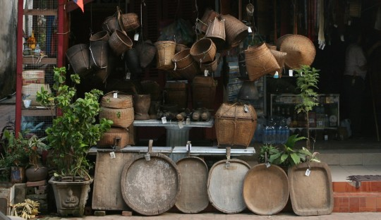 Shop in one Luang Prabang streets.