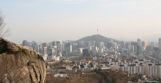 Seoul, seen from the hills.