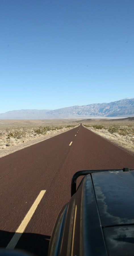 Entering Death Valley.