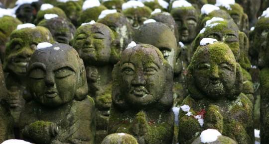 Adashino Nembutsu-Ju stone statues.