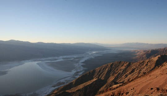 Salt pan in the Death valley seen from Dante's Peak.