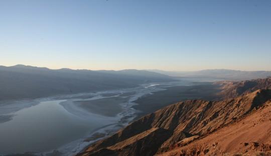 Salt pan in the Death valley seen from Dante's Peak.