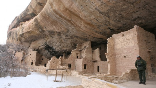 Mesa Verde National Park, dwellings in the cliffs.