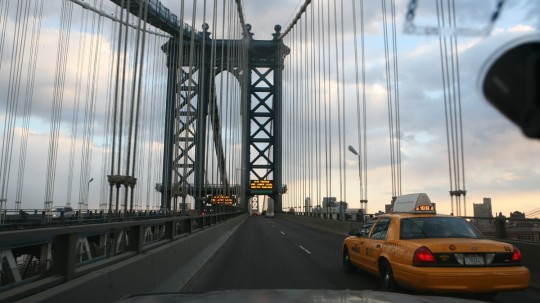 Reentering Brooklyn by the Manhattan Bridge.