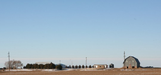 Church in Oklahoma. Everything is flat and immense.