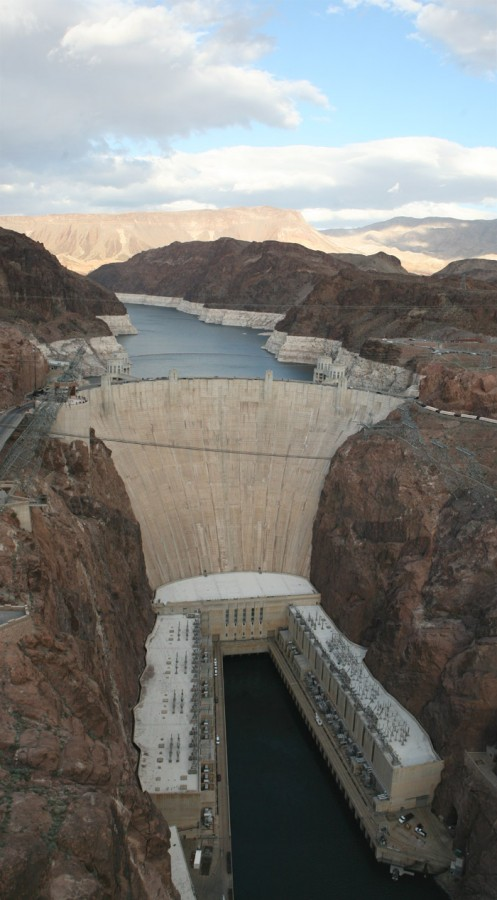 The Hoover Dam, harvesting the power of the Colorado River.