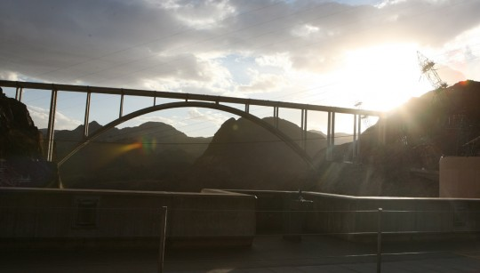 The new bridge across the Colorado River.