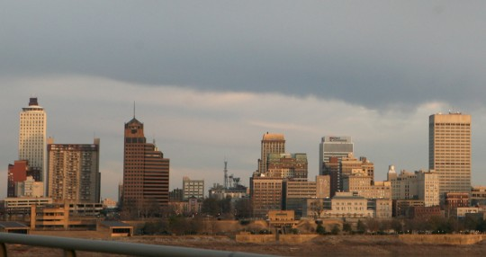 Memphis skyline.