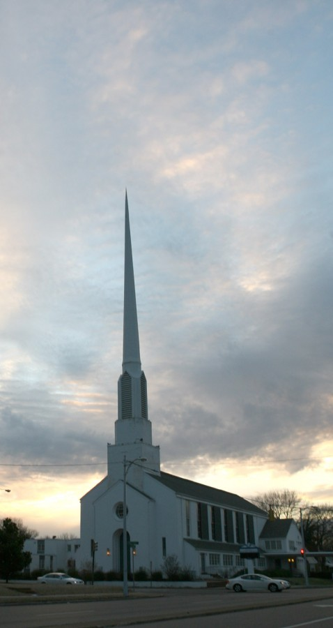 One of Memphis many churches.