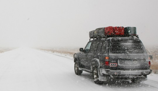As we get closer to Utah, snowfalls get worst.