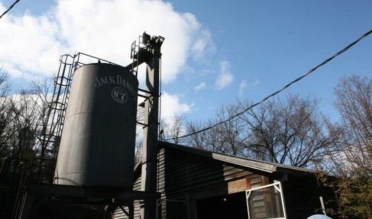 Jack Daniels bourbon distillery.